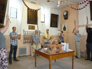 Demonstrating bell ringing