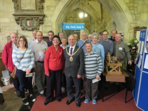 The Mayor with all the bell ringers