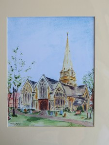 Painting of Cheltenham Minster