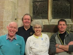 Reg Hitchings, Paul Staines, Isabel Hitchings & Charles Beardsel